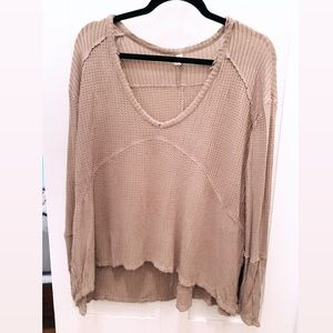 Free People Waffle Thermal Top